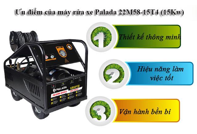 máy bơm rửa xe Palada 22M58-15T4 (15Kw)