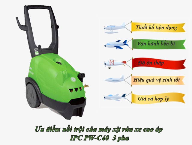 máy rửa xe IPC PW-C40 3 pha