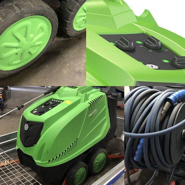 máy xịt rửa xe nước nóng IPC PW-H100/4 D2515P T (4 bánh)