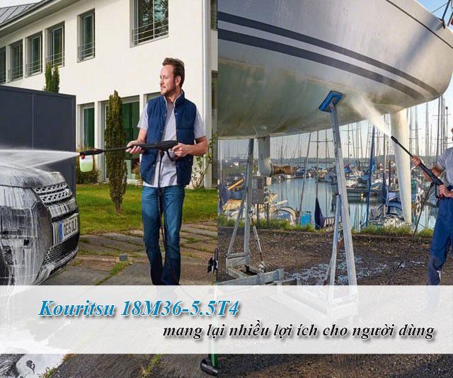 máy rửa xe Kouritsu 18M36-5.5T4 chính hãng