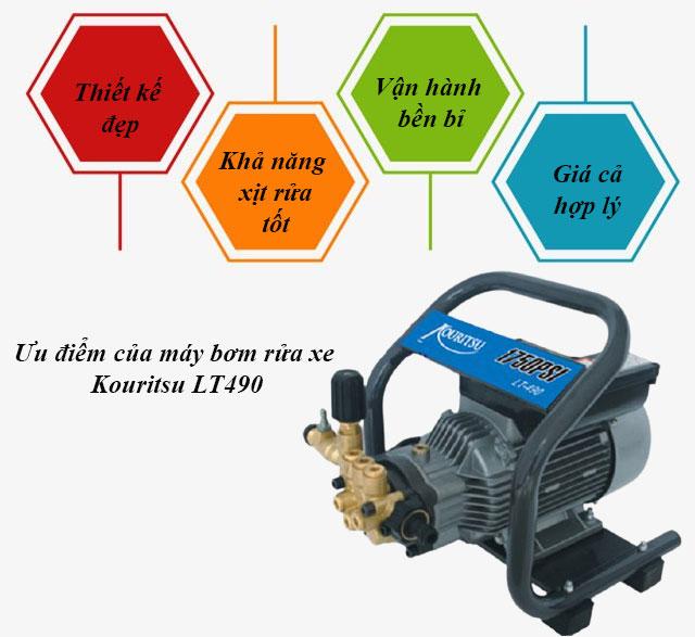 máy bơm rửa xe Kouritsu LT490