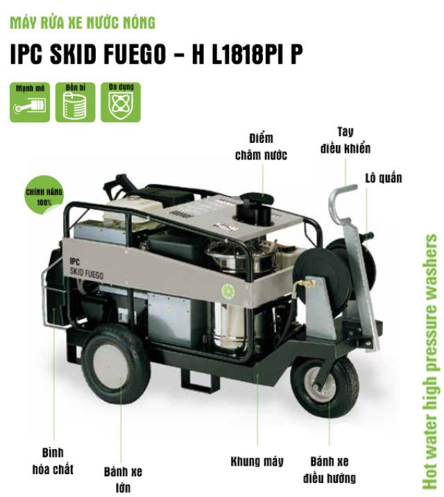 Máy rửa xe nước nóng IPC SKID FUEGO – H L1818PI P (Động cơ dầu)