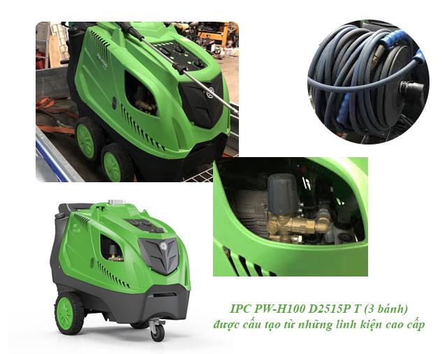 máy xịt rửa xe nước nóng IPC PW-H100 D2515P T (3 bánh)