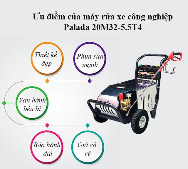 Ưu điểm của máy bơm rửa cao áp Palada 20M32-5.5T4