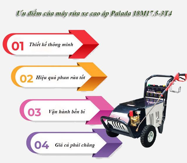Ưu điểm của máy rửa xe cao áp Palada 18M17.5-3T4