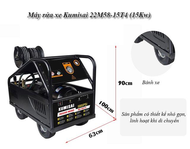 Máy xịt rửa xe Kumisai 22M58-15T4 (15Kw) chính hãng