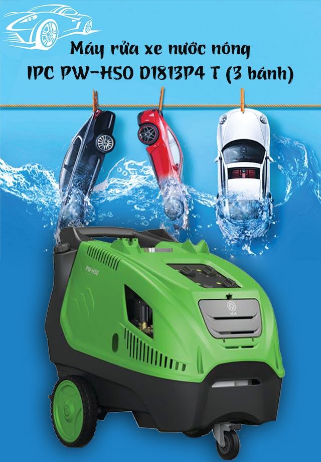 Máy xịt rửa xe nước nóng IPC PW-H50 D1813P4 T (3 bánh)