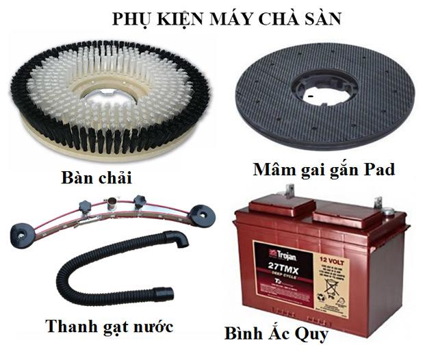 Thường xuyên kiểm tra và vệ sinh phụ kiện máy chà sàn