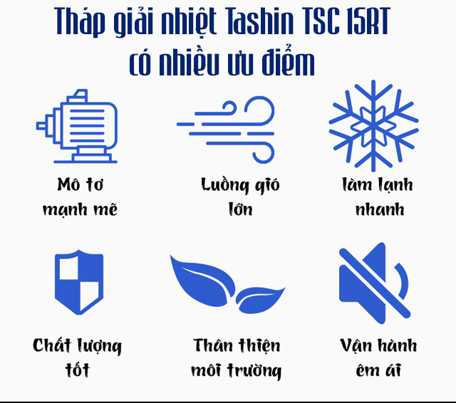 Tháp giải nhiệt nước Tashin TSC 15Rt