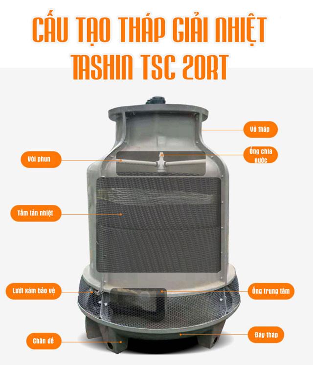 Tháp giải nhiệt nước Tashin TSC 20Rt