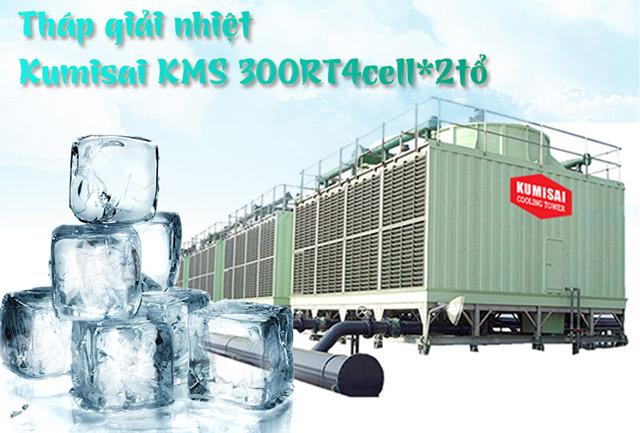 Tháp hạ nhiệt nước Kumisai KMS 300RT4cell*2tổ