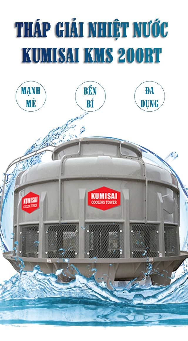 Tháp hạ nhiệt nước Kumisai KMS 200RT