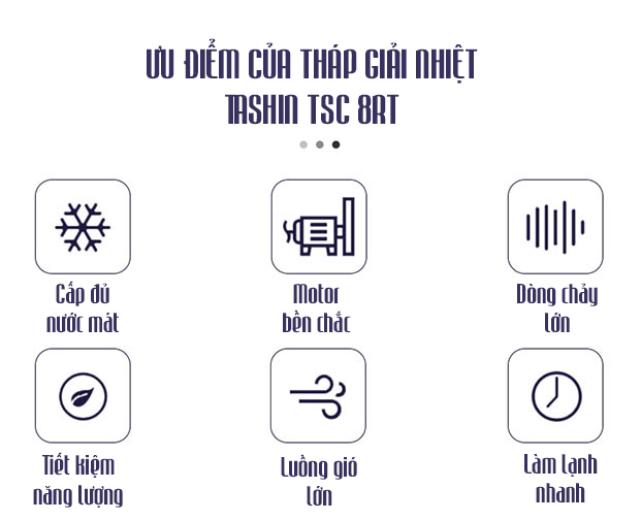 Tháp hạ nhiệt Tashin TSC 8RT