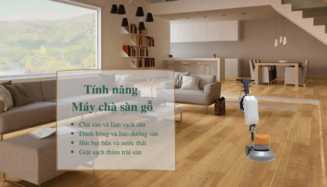 Chức năng của máy lau sàn và đánh bóng sàn gỗ