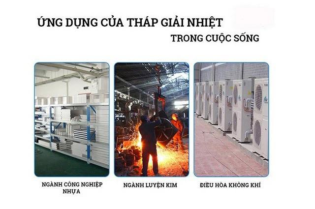 Tháp giải nhiệt được ứng dụng rất nhiều trong cuộc sống