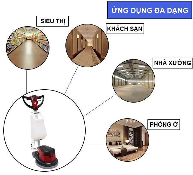 Palada PD 1A được sử dụng làm sạch trong nhiều không gian khác nhau