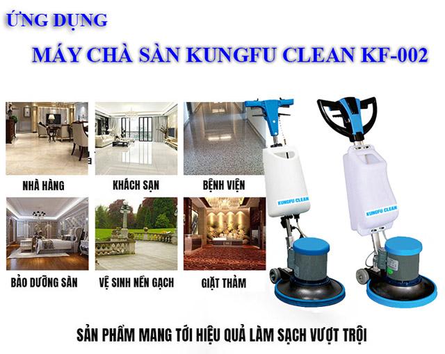 Kungfu Clean KF-002 - Khả năng làm sạch cao tại nhiều khu vực