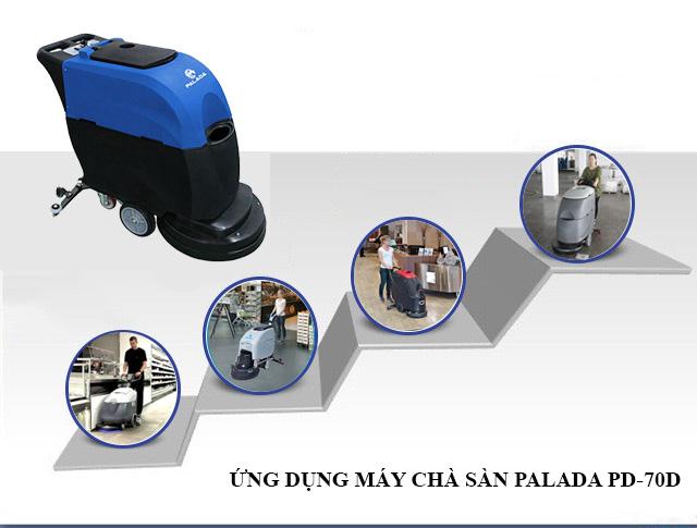 Palada PD-70D sử dụng ắc quy nên có tính linh hoạt cao