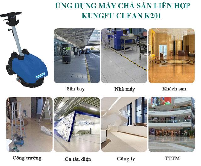 Thiết bị Kungfu Clean K201 được có tính ứng dụng cao