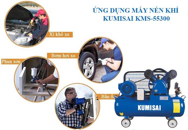 Ứng dụng máy nén hơi Kumisai KMS-55300