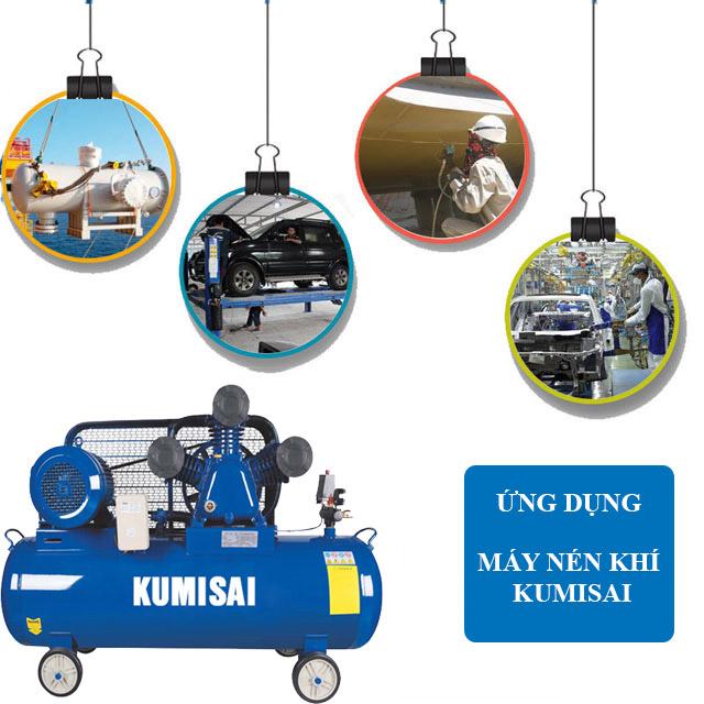 Kumisai KMS-15500 có công suất 15HP nên được ứng dụng trong nhiều lĩnh vực