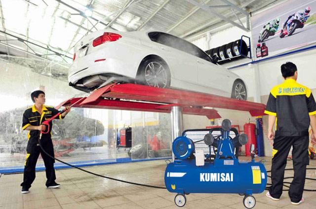 Ứng dụng của máy nén khí trong các tiệm sửa chữa xe