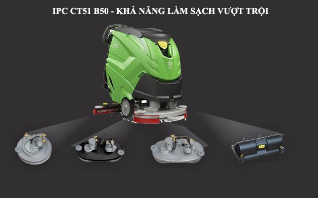 IPC CT51-B50 có khả năng làm sạch trên mọi bề mặt sàn