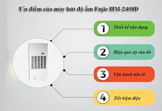 Ưu điểm của thiết bị hút ẩm công nghiệp Fujie HM-2408D