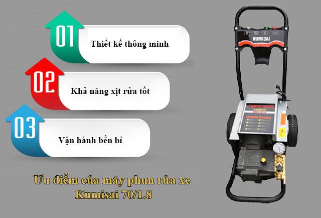 Ưu điểm của máy xịt rửa xe Kumisai 70/1.8