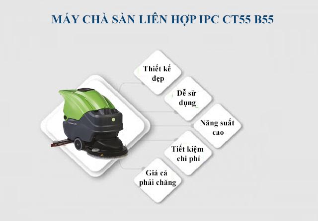 Tính năng nổi bật của model chà sàn IPC CT55 B55