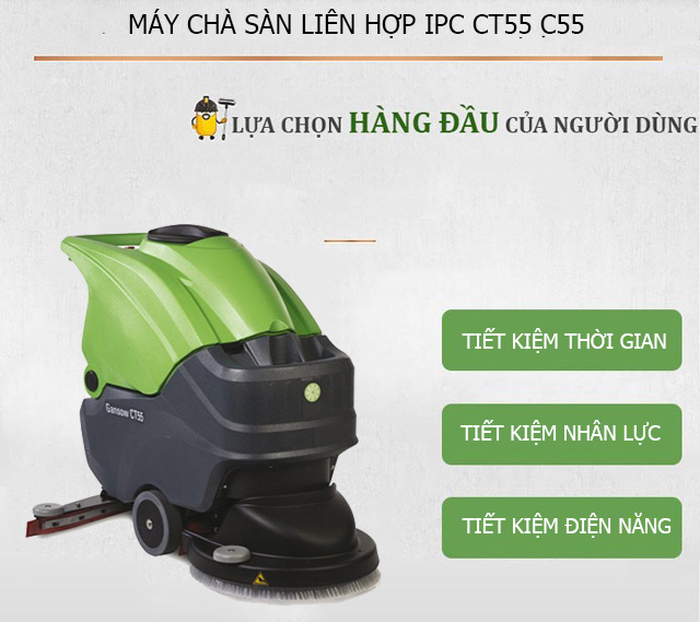 Lợi ích khi sử dụng model chà sàn IPC CT55 C55