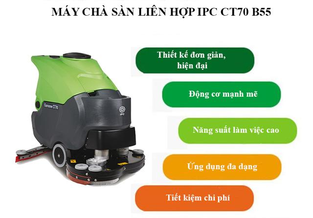 Máy chà sàn IPC CT70-B55 có điểm gì nổi trội?
