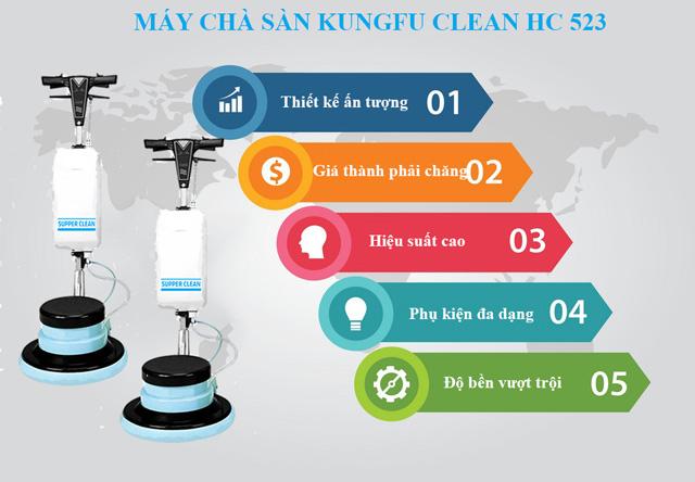Ưu điểm nổi bật của thiết bị chà sàn Kungfu Clean HC-523
