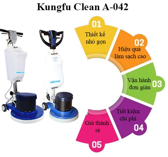 Ưu điểm nổi trội của thiết bị chà sàn Kungfu Clean A-042