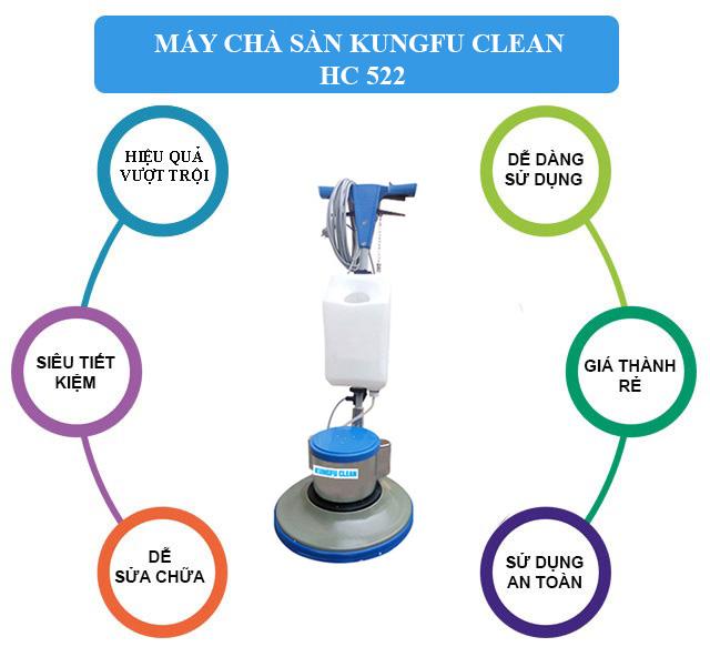 Kungfu Clean HC 522 - Vận hành bền bỉ, khả năng làm sạch hiệu quả