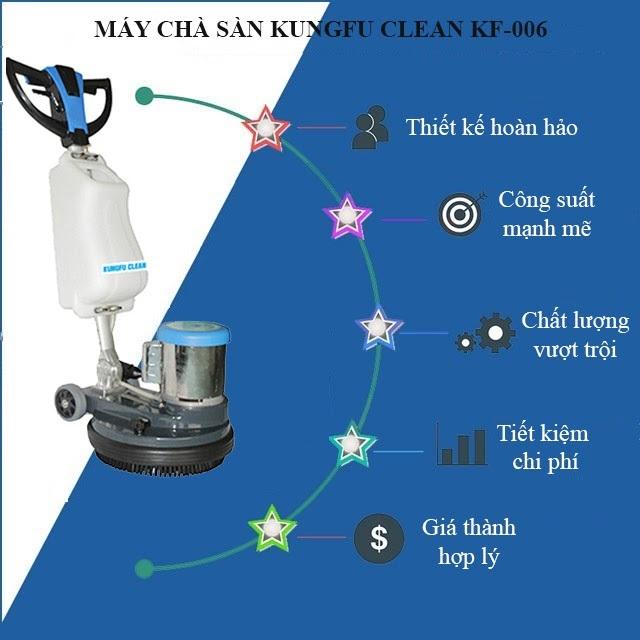 Tính năng vượt trội của model chà sàn Kungfu Clean KF 006
