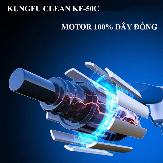 Động cơ 100% dây đồng giúp KF-50C vận hành bền bỉ, mạnh mẽ