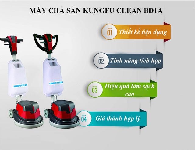 Ưu điểm thiết bị chà sàn Kungfu Clean BD1A