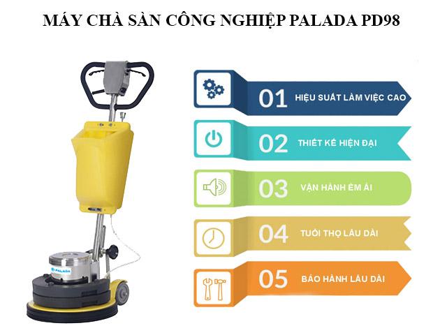 Máy chà sàn công nghiệp Palada PD98 có điểm gì nổi trội?