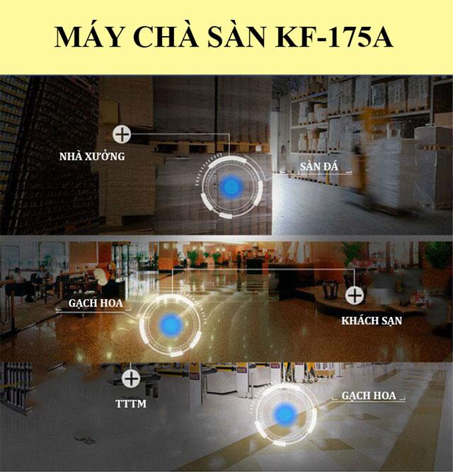 Kungfu Clean KF-175A có khả năng làm sạch hiệu quả tại nhiều khu vực khác nhau