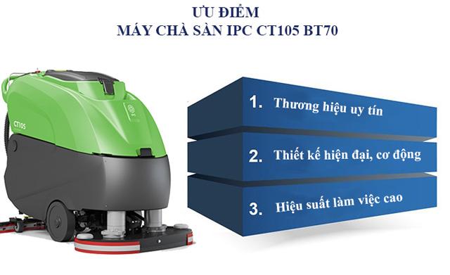 Ưu điểm nổi bật của máy chà sàn liên hợp IPC CT105 BT70