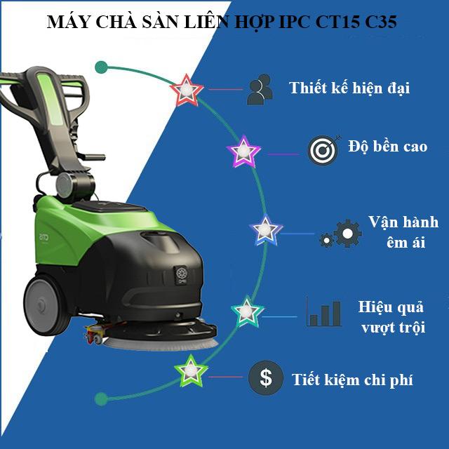 Ưu điểm nổi trội của máy chà sàn liên hợp IPC CT15 C35