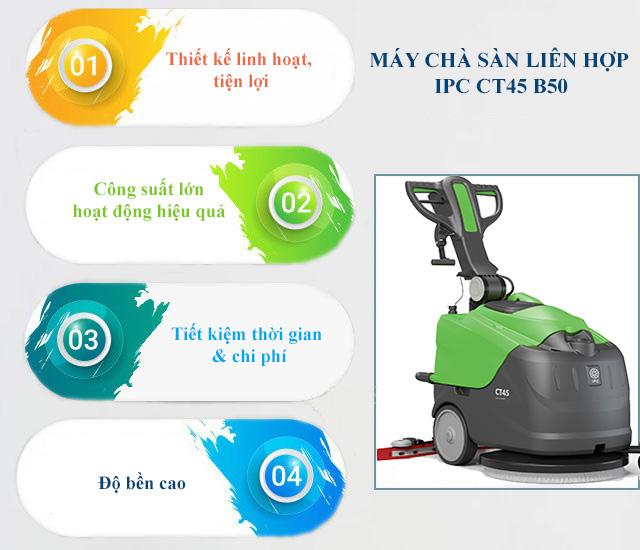 Ưu điểm máy chà sàn liên hợp IPC CT45-B50