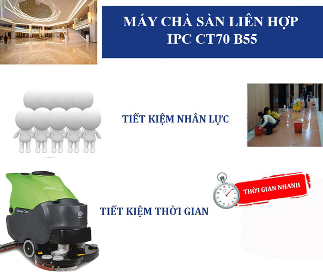 IPC CT70 B55 - Tiết kiệm nhân lực, chi phí hiệu quả cho doanh nghiệp