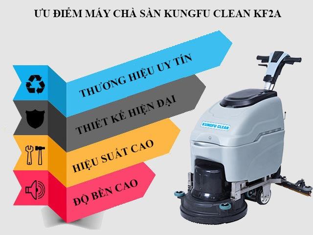 Ưu điểm nổi trội của thiết bị chà sàn liên hợp Kungfu Clean KF2A