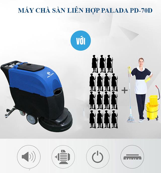 Palada PD-70D có thể thay thế cho nhiều nhân công vệ sinh
