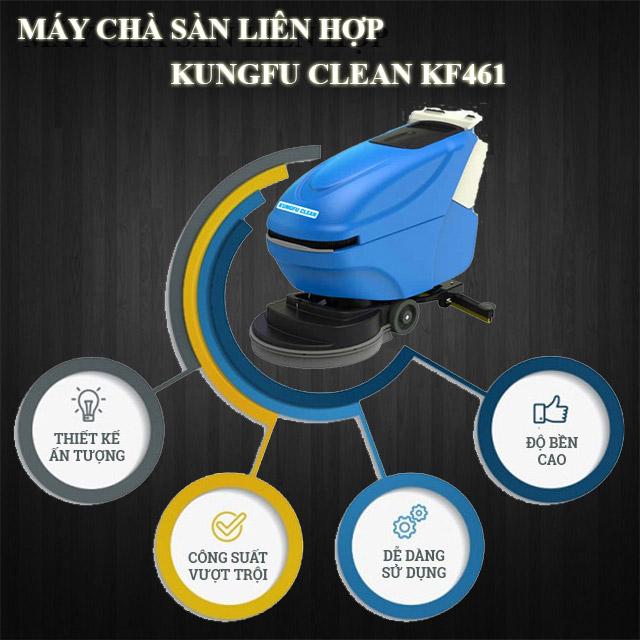 Thiết bị chà sàn Kungfu Clean KF-461 có điểm gì thu hút người dùng