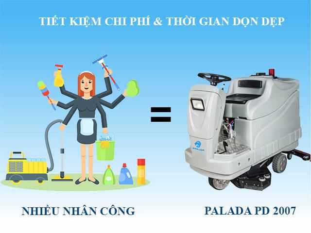 Palada PD-2007 giúp làm sạch nhanh chóng, hiệu quả