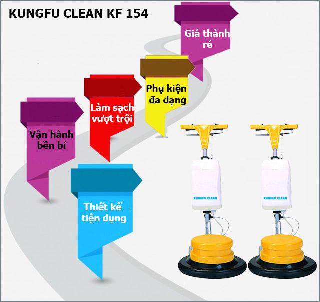 Ưu điểm vượt trội của máy chà sàn thảm công nghiệp Kungfu Clean KF-154