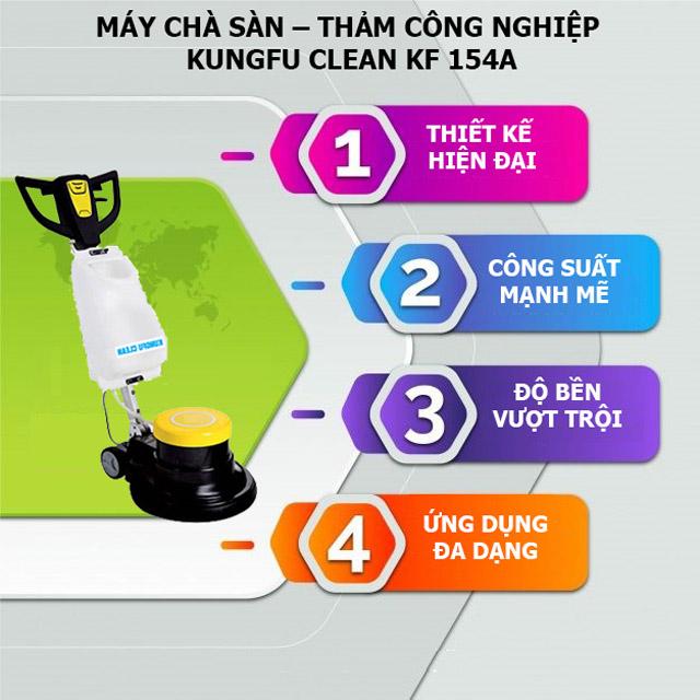 Ưu điểm vượt trội của máy chà sàn giặt thảm Kungfu Clean KF-154A